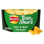 Walkers Tear & Share Salt & Malt Crisps 150g